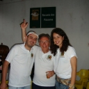 Doze de Outubro - Eu, minha esposa e o Fabiano, um dos fundadores do Ninho.